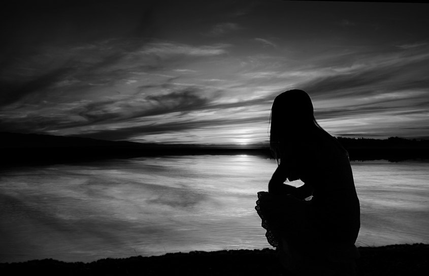 Sad Photography Black White Black And White Sadness